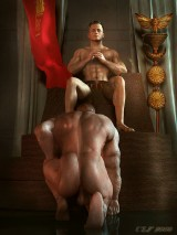 Naked men with big dick. 3D Gay Art.  - 3D Gay Porn
