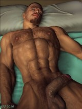 A man and his sexual dreams. 3D Gay Art.  3D Gay Porn