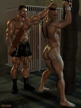 3D Gay Art - men are engaged in BDSM sex - 3D Gay Porn